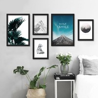 Posters And Prints Wall Art Canvas Painting Cuadros Beach Forest Wall Pictures For Living Room Nordic Decoration No Poster Frame