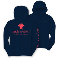 Simply Southern Turtle Logo Long Sleeve Lightweight Hoodie T-Shirt