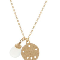 Sea Glass Sand Dollar Necklace | The Handmade Hustle