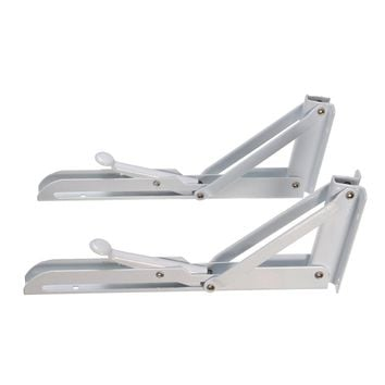 2Pcs Triangular Folding Bracket Metal Release Catch Support Bench Table Folding Shelf Bracket Home 95x250mm Waterproof