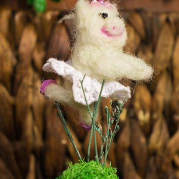 Piggy Ballerina - symbol 2019, pig mascot, cute felted pig Handmade toy Gift Needle felted toys Felt animals Gift for her Little pig Art toy