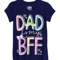 Dad Is My Bff Graphic Tee | Girls Graphic Tees Clothes | Shop Justice