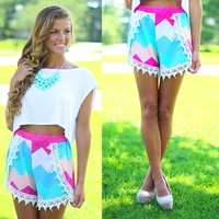 Girly Girl Chevron Shorts