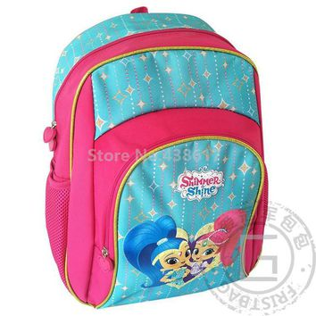 New Shimmer and Shine Backpack Cirls School Bags Fashion Cartoon Children Primary School Schoolbag For Kids Bag