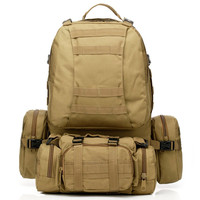 600D Military nylon Tactical Backpack 55L