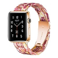 Red Bloom Resin Band For Apple Watch