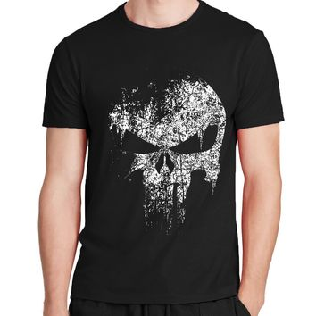 the Punisher Skull hip hop Supper Hero t shirts Men T-Shirt tops tees brand  clothing mma pp fitness streetwear drake t shirts