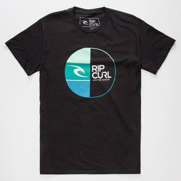 Rip Curl Split Moment Mens T-Shirt Black  In Sizes