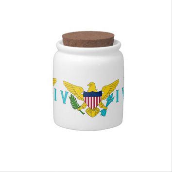 Virgin Islands Flag Candy Jar
