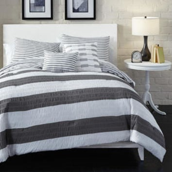 Metaphor 5 piece Wide Stripe Comforter Set