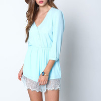 BLUE ANGEL LACE CREPE ROMPER
