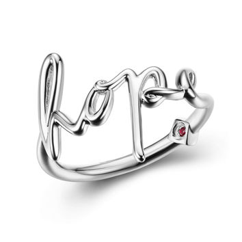 Cursive Hope Ring
