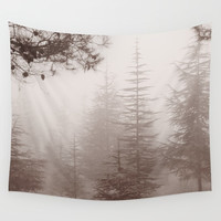 Dream forest. Retro Wall Tapestry by Guido Montañés