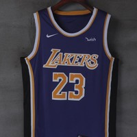 2018-2019 LeBron James Los Angeles Lakers #23 Nike Fanatics Branded Statement Edition jerseys - Best Deal Online