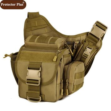 Protector Plus DSLR Camera Bag Army Messenger Men Handbag Casual Saddle Camouflage Shoulder Bags High Quality Nylon Pack D548