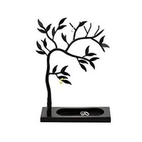 Geff House Jewelry Tree Organizer Display for Necklace, Bracelets, Earrings & Rings (Black)