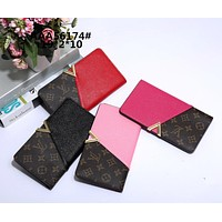 """Louis Vuitton"" Women Fashion Multicolor Logo Letter  Leather Purse Long Section Fold Wallet"