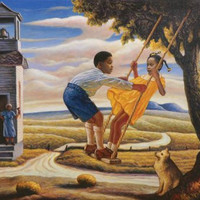AFRICAN AMERICAN ART PRINT - MY FIRST LOVE 24X36 POSTER