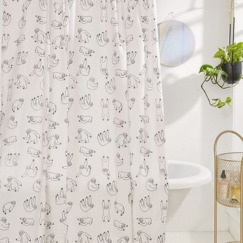 Sloths Shower Curtain | Urban Outfitters