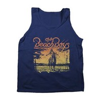 Beach Boys Indian Sunset Tank Top on Navy by The Beach Boys