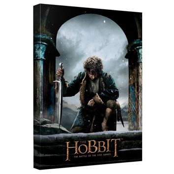 The Hobbit - Five Armies Poster Canvas Wall Art With Back Board