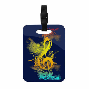 "Federic Levy-Hadida ""Sound of Nature"" Rainbow Music Decorative Luggage Tag"