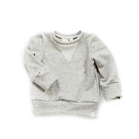 Crew Sweatshirt in Heather Gray