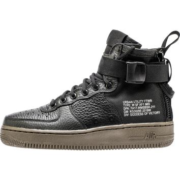 [Free Shipping] NIKE SF AIR FORCE 1 WOMEN'S SHOE - BLACK/GUM {The Price Tells The Quality}