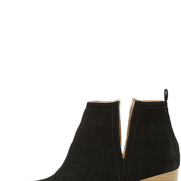 Come Out on Top Black Suede Ankle Booties
