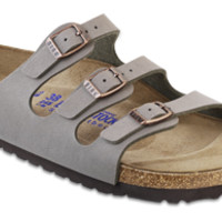 Florida Soft Footbed Stone Birkibuc Sandals | Birkenstock USA Official Site