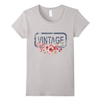 T-Shirt Vintage Flowers Antique Worn Tired