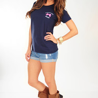 Country Made Antler Shirt: Navy