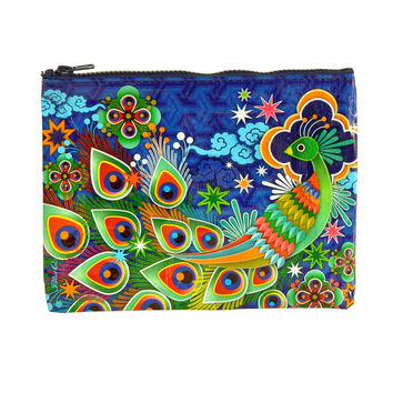 Blue Q Zipper Pouch (peacock)