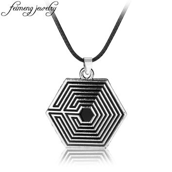 The Maze Runner Percy Jackson Necklace The Battle Of The Labyrinth Silver Pendant With Leather Rope Movie Jewelry Accessories
