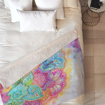 Stephanie Corfee Flourish Fleece Throw Blanket