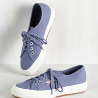 Active Kindness Sneaker in Periwinkle | Mod Retro Vintage Flats | ModCloth.com