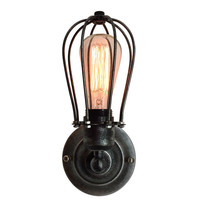 New Retro Wall Lamp Vintage Industrial Cage Light Wall Sconce