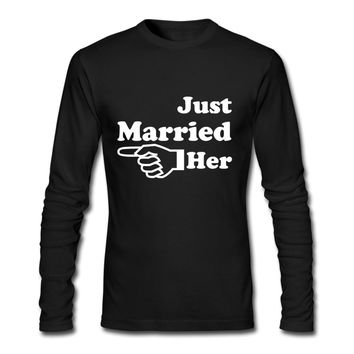 Just Married Her - Just Married Him - Wedding T-shirt