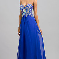 Floor Length Alyce Strapless Sweetheart Dress