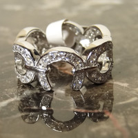 Simplicity & Beauty Equestrian Silver and cubic zirconia Horseshoe Ring