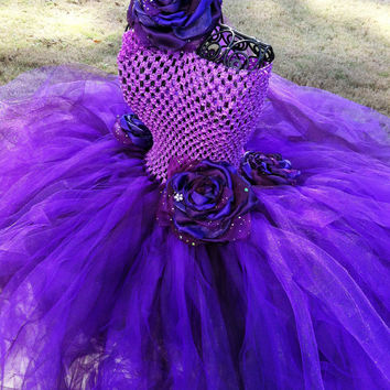 Beautiful purple tutu dress-birthday tutu with matching headband-wedding apparel