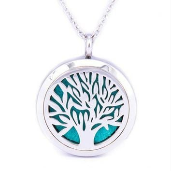 Tree Of Life Diffuser Necklace 18inch chain