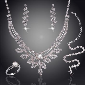 Jewelry Sets Swaying Pendant Plated Austrian Crystal Bridal/Wedding