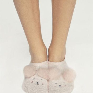 DCCKBA7 Oysho Cute Warm floor socks