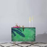 Madart Inc. Tropical Splash Aqua Credenza | DENY Designs Home Accessories