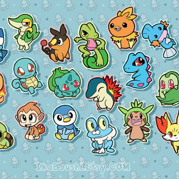 POKEMON Inspired Sticker Set