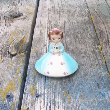 Vintage Josef Originals California September American Beauty Ceramic Figurine  Girl of the Month