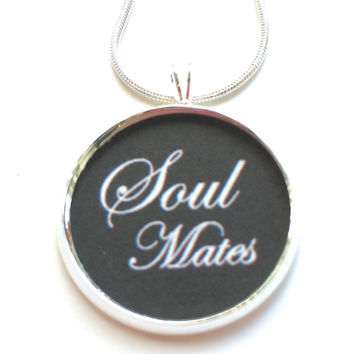 Soul Mates Pendant Necklace, Love Pendant, fashion jewelry, gifts for women, jewelry, statement necklace