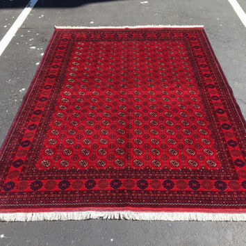 Size- 7'7x5'8ft beautiful turkoman Moregul rug, soft wool rug, tribal rug nomadicrug