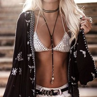 Boho Chic Long Gothic Choker Maxi Necklace